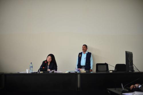 La jueza Erika Aifán escuchó las peticiones de Guayo Cano y el grupo de implicados en el caso de la masacre en Salcajá. (Foto: Jesús Alfonso/Soy502)