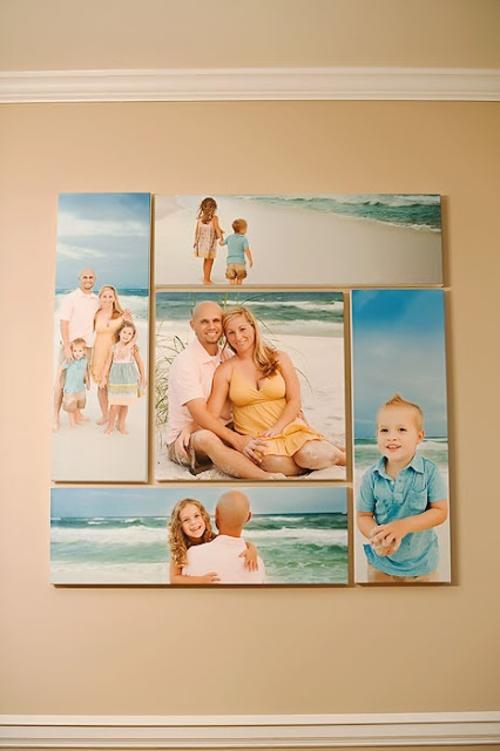 Si tienes una fotografía preferida, utiliza un software de edición de imagen e imprímela en color, en blanco y negro y en sepia. (Foto: Pinterest)