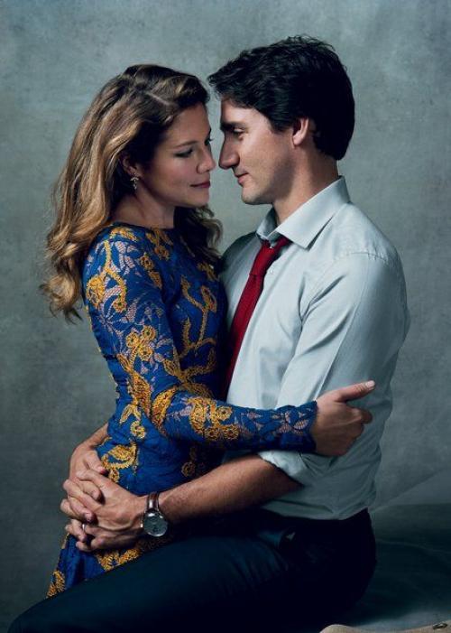 Justin Trudeau su esposa. (Foto: Yahoo News)