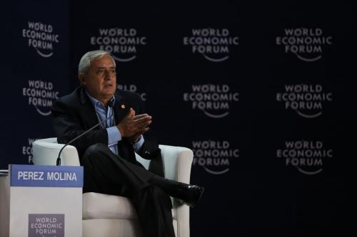 El mandatario guatemalteco Otto Pérez Molina reanudó el debate sobre el combate de las drogas y regular el consumo en la región; tema que promueve desde 2012 (Foto: Presidencia de Guatemala)