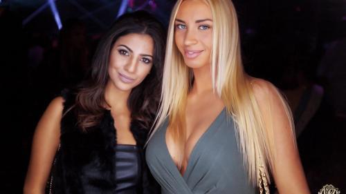 Dos de las amigas de Benzema que asistieron a su cumpleaños.