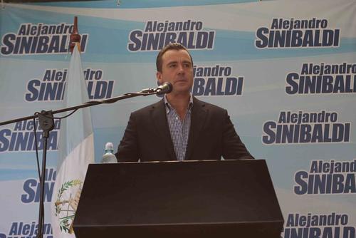 Alejandro Sinibaldi, en su última aparición pública.  (Foto: Archivo/Soy502)