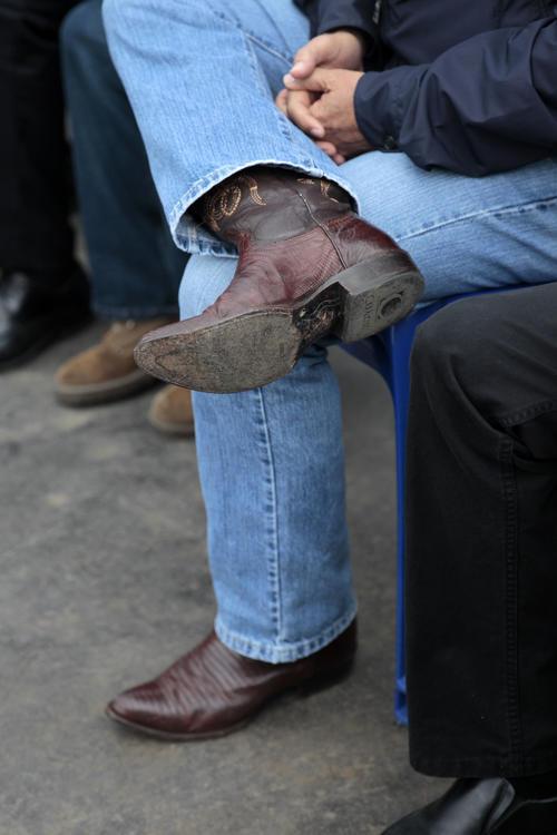 Fiel a su estilo, Portillo usa sus típicas botas. (Foto: Esteban Biba/Soy502)