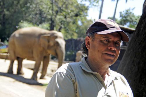 """Romeo López nació el mismo año que """"Trompita"""" y desde los 7 años son compañeros de vida, desde el circo hasta el Zoo. (Esteban Biba/Soy502)"""