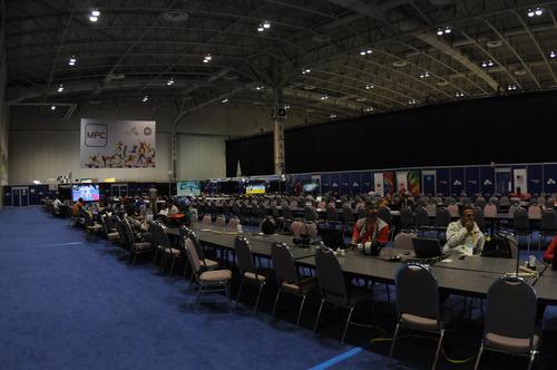 Aquí el espacio para unos 500 periodistas. (Foto: Pedro Pablo Mijangos/Soy502)