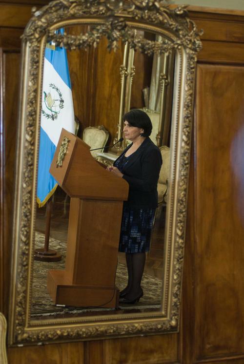 María Castro, ministra de Finanzas, señaló que dará a conocer una vez al mes los avances en materia tributaria y ejecución del gasto. (Foto: Jesús Alfonso/Soy502)