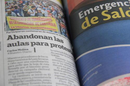 Cobertura de Nuestro Diario sobre la marcha celebrada en 2012. (Foto: Fredy Hernández/Soy502)