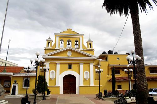 Esta es la Iglesia de Salcajá, donde es párroco el padre José Antonio Molina. (Foto: Gustavo Rodas)