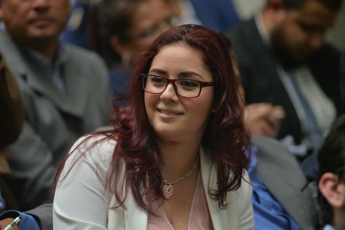 La abogada Jenniffer Dell'Acqua durante un receso. (Foto: Wilder López/Soy502)