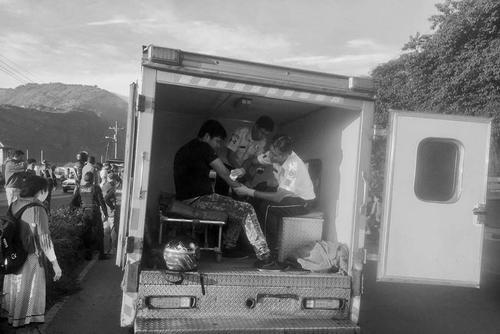 También se reportaron tres personas heridas que fueron trasladadas hacia el Hospital de Amatitlán. (Foto: Bomberos Voluntarios)