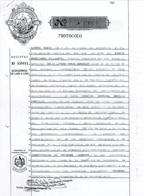 La exministra de Gobernación fue la abogada que inscribió la empresa. (Foto: José Miguel Castañeda/Soy502)
