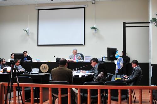 La audiencia de primera declaración en el caso de corrupción en Antigua Guatemala está a cargo del juez Miguel Ángel Gálvez. (Foto: Alejandro Balán/Soy502)