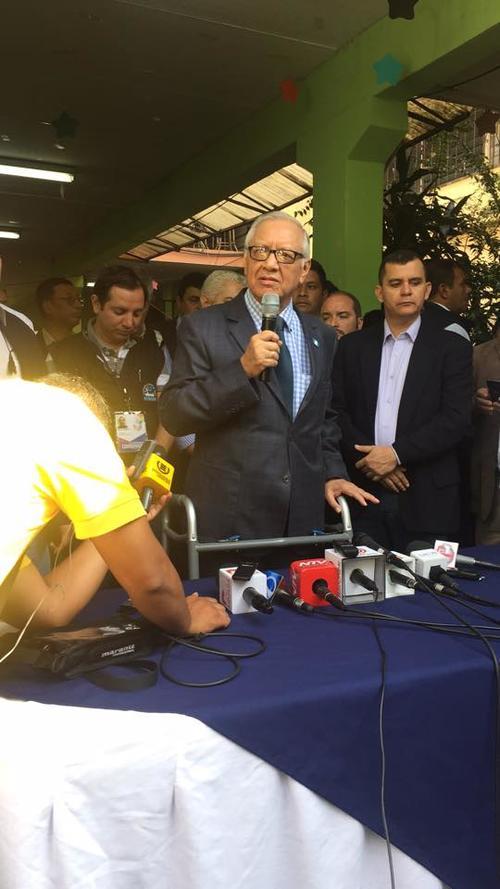 Tras las declaraciones, Alejandro Maldonado ofreció declaraciones. (Foto: Alex Maldonado/Nuestro Diario)