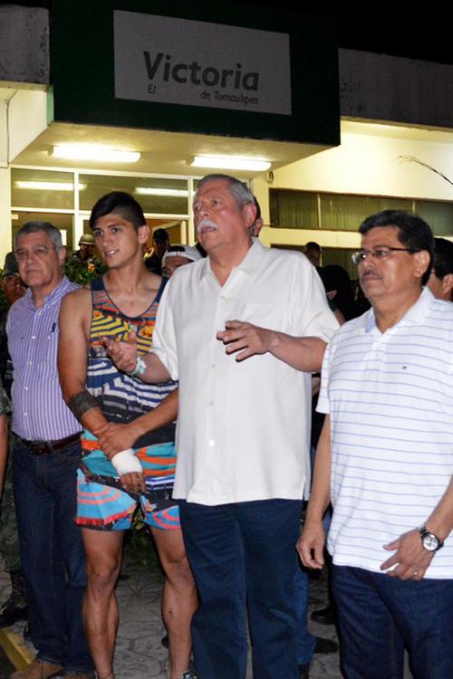 Alan Pulido fue rescatado en Tamaulipas, 24 horas después que fuera secuestrado por hombres armados. (Foto: AFP)