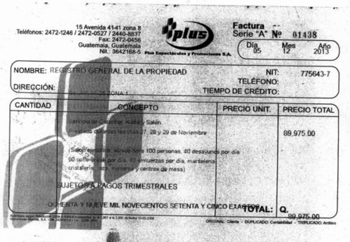 La facturación por los alimentos se efectuó tres días después de que se emitiera la factura de Fulanos & Menganos. (Foto: captura de pantalla/Guatecompras)