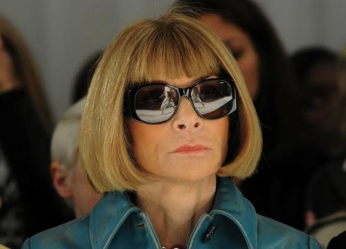 """Anna Wintour de Vogue estableció la regla de """"no selfies"""" en el Met Gala. (Foto: Mercedes Benz Fashion Week)"""