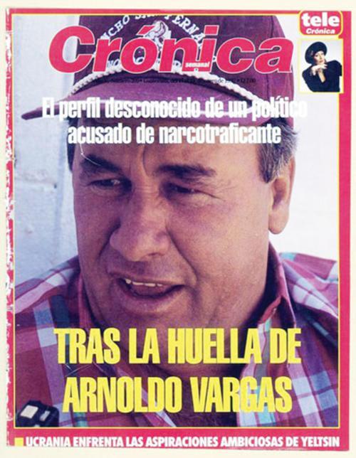 """Portada de la revista """"Crónica"""" que muestra a Arnoldo Vargas Estrada. (Foto: Crónica)"""