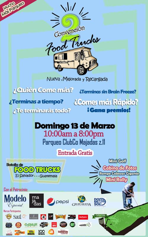 """La convención reune a algunos de los mejores """"Food Trucks"""" de Guatemala."""