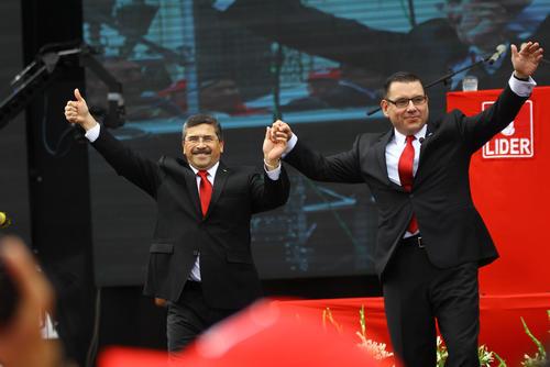 Edgar Barquín, compañero de fórmula de Manuel Baldizón, en el partido Lider. (Foto: Soy502)