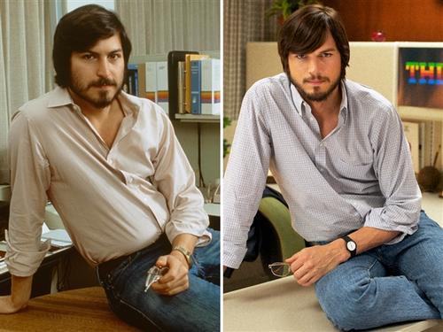 Steve Jobs en su juventud tenía un gran parecido con el actor Ashton Kutcher.