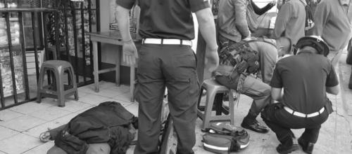 Un guardia del Sistema Penitenciario murió en un ataque armado ocurrido en la 9na. Avenida y 3ra. Calle de la zona 1 capitalina. (Foto: @CRGuatemala)