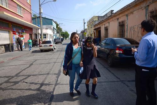 Las alumnas que llegaban al INCA sufrieron crisis nerviosa. (Foto:Jesús Alfonso/Soy502)