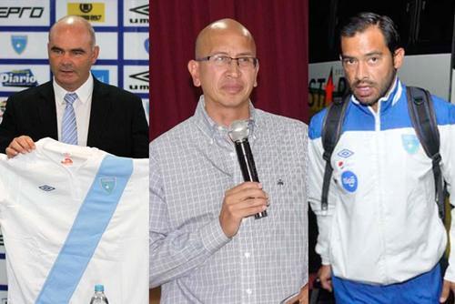 Los que votaron por Guatemala para la edición del Balón 2014 y 2015. Iván Sopegno, Francisco Aguilar Chang y Carlos Ruiz.