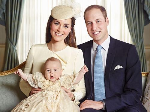 Esta fue la foto oficial del bautizo del príncipe Jorge que se realizó en octubre pasado.