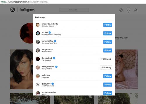 Bella Hadid decidió dejar de seguir a su ex en Instagram. (Foto: Screen)