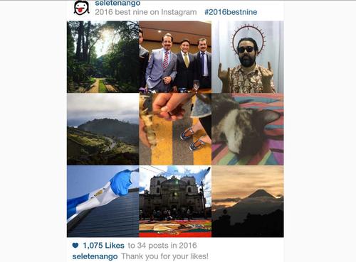 """Así luce tu resumen del año, junto a los datos de cuántos """"likes"""" obtuviste. (Foto: captura de pantalla)"""