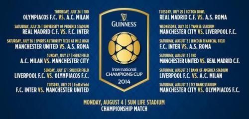 Calendario de juegos de la copa. (Imagen: internationalchampionscup.com)