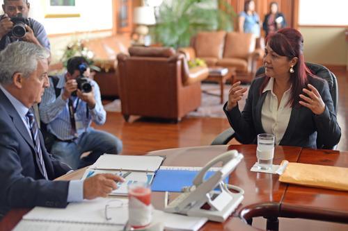 La candidata dijo que de no ser electa continuará con su trabajo en el Quinto Viceministerio. (Foto: Esteban Biba/Soy502)