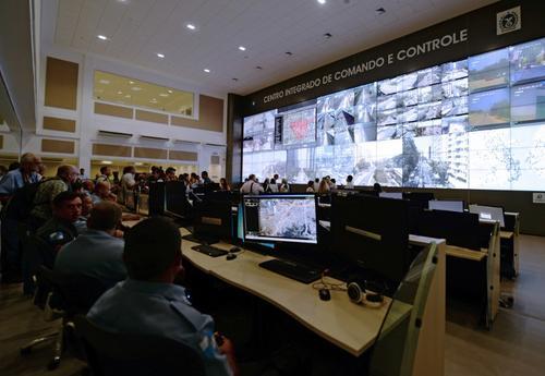 En una demostración a los medios de comunicación internacional se observaron pruebas en tiempo real de transmisiones del Estadio Maracaná (Foto: AFP)