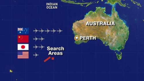 Éstos fueron los países que más colaboraron con la búsqueda del vuelo MH-370. (Foto: ABC News)
