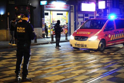 Lugar donde el taxista recogió a los terroristas. (Foto: AFP)