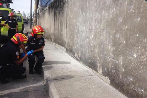 El incidente de la bomba tuvo lugar en la avenida Hincapie, en la zona 13. (Foto: Bomberos Municipales)