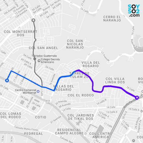 El bulevar Tulam Tzu puede ser una alternativa a la calzada San Juan y el bulevar El Naranjo. (Imagen: Javier Marroquín/Soy502)