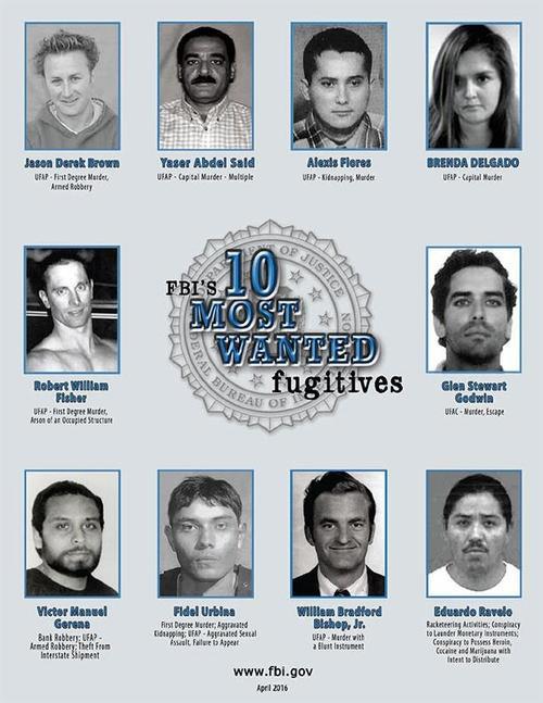 El FBI ofrecía una recompensa de 100 mil dólares por información que llevara a la captura de Delgado. (Foto: debate.com.mx)