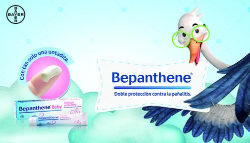 Bepanthene es una pomada que asegurará la protección de la piel de tu bebé, evitando irritaciones y otras afecciones por el uso del pañal. (Foto: cortesía Bayer)