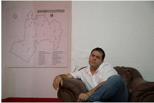 Julio Juárez, alcalde de Santo Tomás la Unión hasta enero de 2015. (Foto: Dafne Pérez)