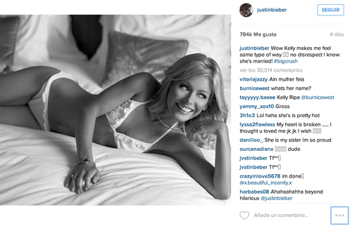 Los seguidores de Justin comentaron con humor las confesiones del joven. (Foto: Tomada de Instagram).
