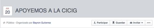 En Facebook se han creado eventos de apoyo a la CICIG.