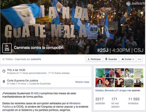 Todas las marchas que se han llevado a cabo desde el 25 de abril, han sido convocadas a través de las redes sociales.