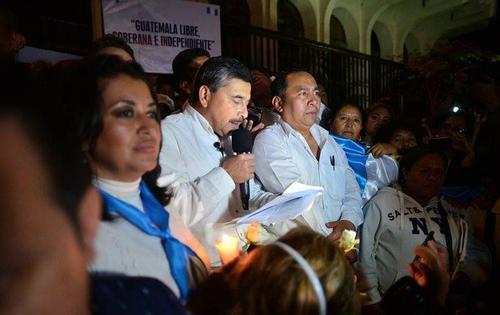 Barquín lee su discurso frente a la Corte Suprema de Justicia. (Foto: Wilder López/Soy502)