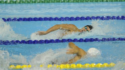 Luis Carlos Martínez también compitió en estilo libre en los Juegos Panamericanos. Pero su mejor prueba es la de 100 y 50 metros mariposa. En 100, quedó octavo en los Juegos Panamericanos de Toronto 2015. (Foto: Archivo/Soy502)