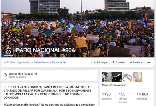 Más de 1,100 personas han confirmado en el evento de Facebook.