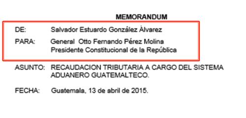 El memorandum fue localizado en la oficina de Salvador González.