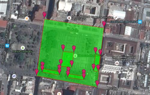 Esta imagen explica el área en la que se hizo el cálculo por persona.
