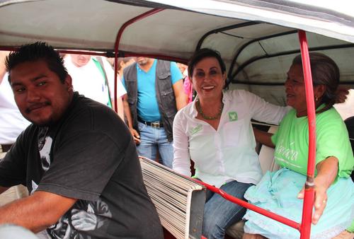 La candidata siempre ha contado el apoyo de los guatemaltecos más desfavorecidos. (Foto: Facebook)