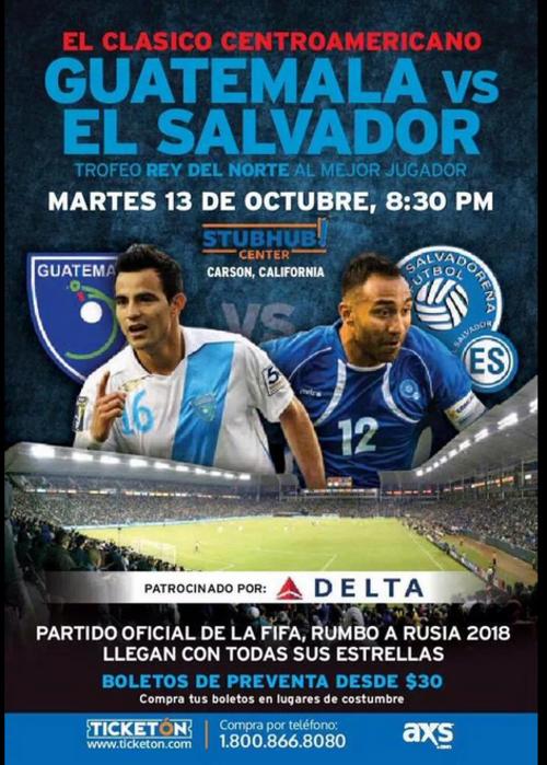 Las entradas para ver Guatemala ante El Salvador, en Los Ángeles están de 30 dólares para arriba.